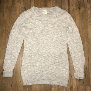 Anthropologie Between Me & You Grey Knit Sweater S